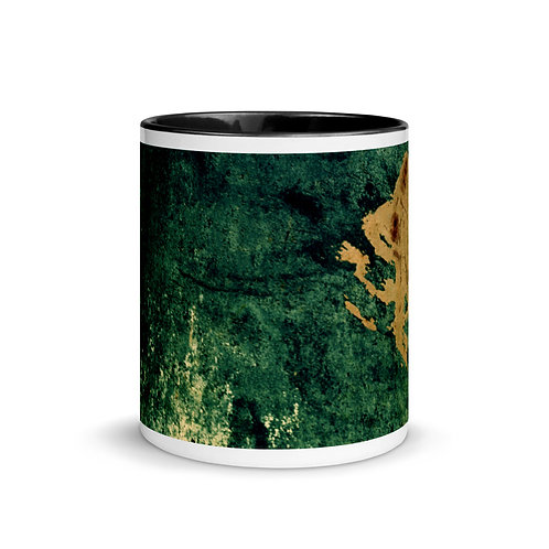 Abstract color x10 Mug with Color Inside