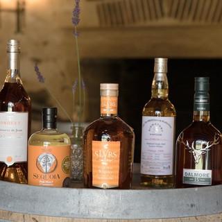 Whiskies et Cognac
