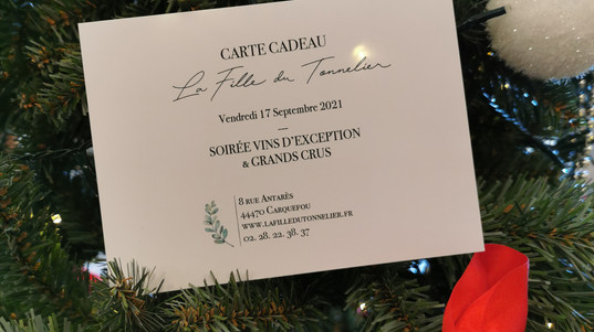 Carte cadeau Soirée Grands Crus et vins d'exception