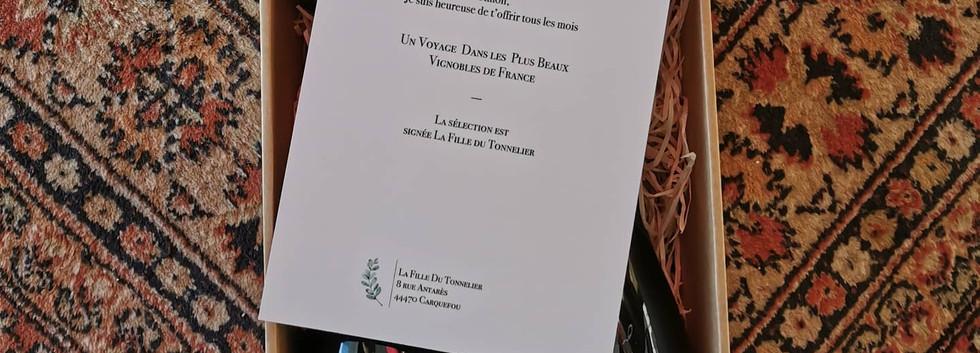 Coffret Bourgogne mot personnalisé