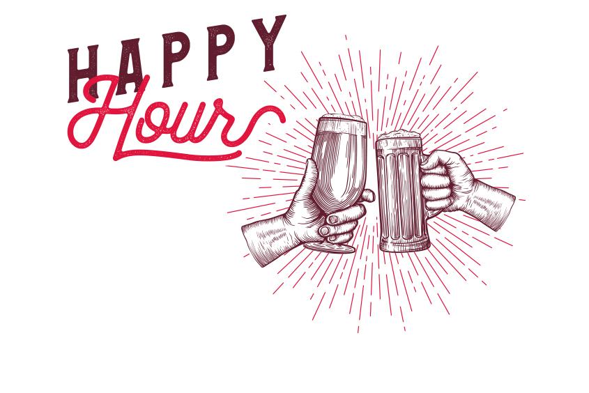 Happy Hour du mardi au samedi de 16h à 1