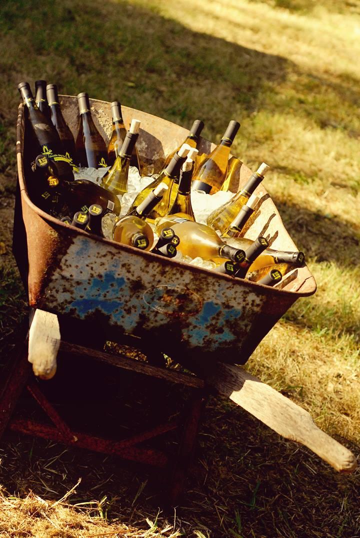 Wine in a brouette
