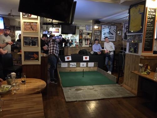 Horseshoe Pitching at Pub