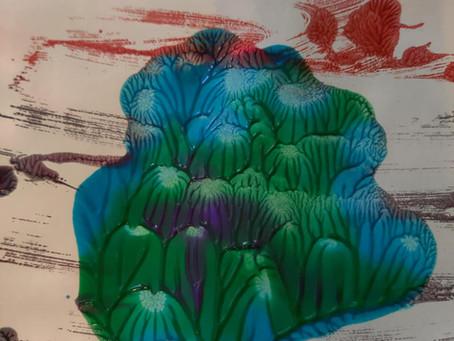 Cookie Sheet Printmaking, A Beautiful Oops...