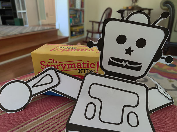 Robot with storycards