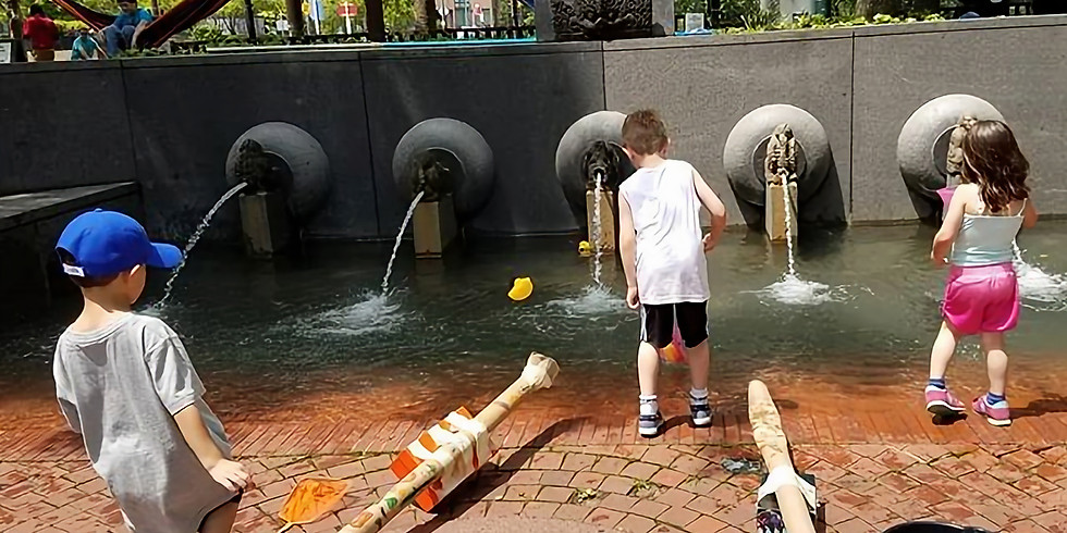 Catapults make things fly at Sundays with PopUpPlay