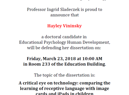 Doctoral Oral Defense Hayley Vininsky