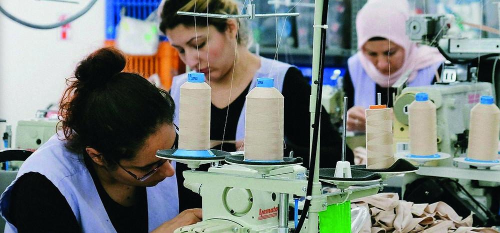 factory work ladies sewing