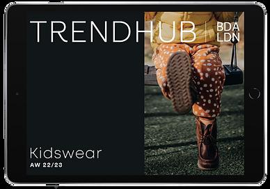trendhub kidswear fashion forecast ipad AW22/23
