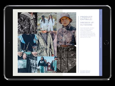 trendhub kidswear fashion forecast AW22/23 product capsule ipad