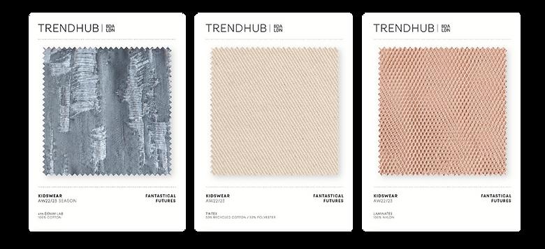 trendhub kidswear fashion forecast AW22/23 fabric swatches