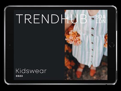 trendhub kidswear ss23 ipad digital trendbook