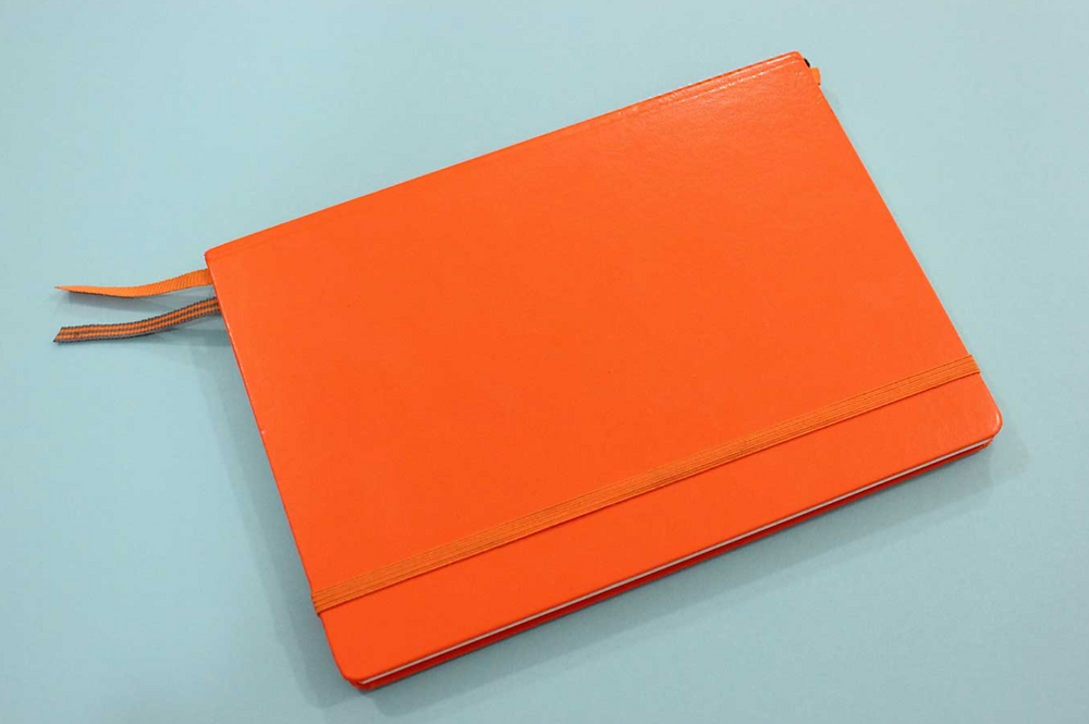 orange notebook journal