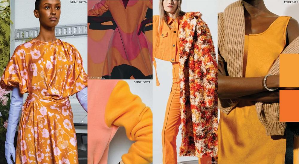 papaya orange colour womens