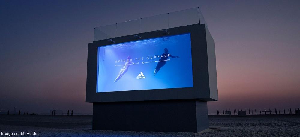 adidas liquid billboard beach dubai