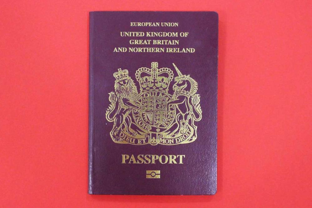 british passport book