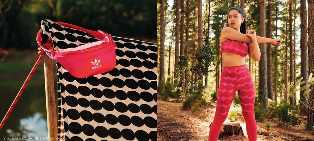 Adidas x marimekko collaboration pink prints