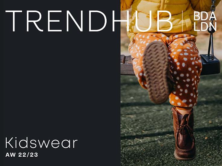 Trendhub BDA London AW22/23 kidswear trend book for sale