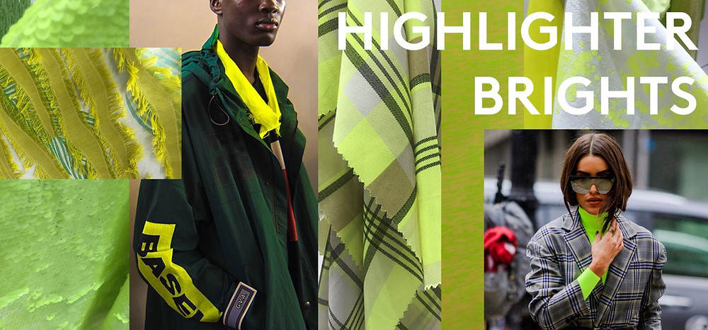 highlighter yellow bright fabric colour