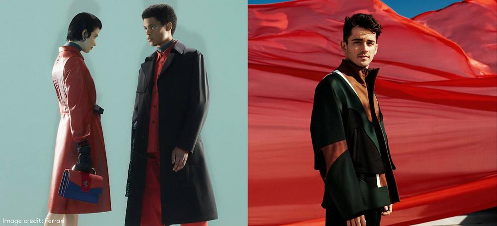 ferrari high fashion capsule red coats