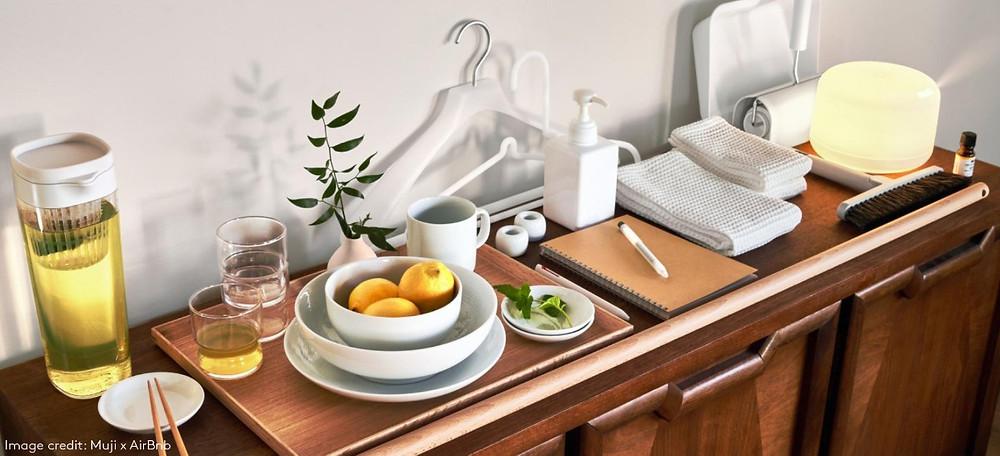 muji airbnb holiday home kit homeware