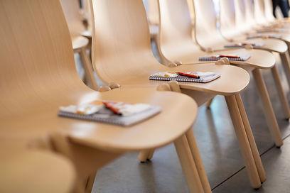presentation wooden seating