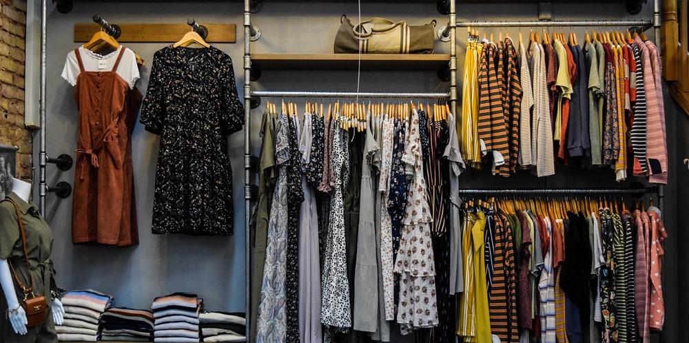 fashion rail womenswear clothing