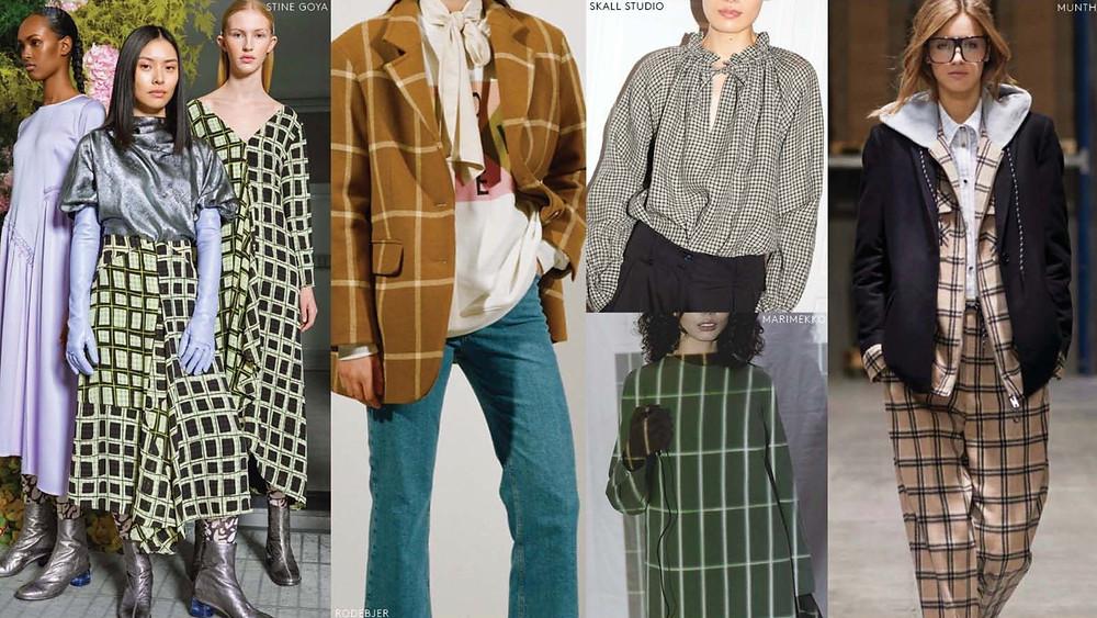 bold check prints womenswear