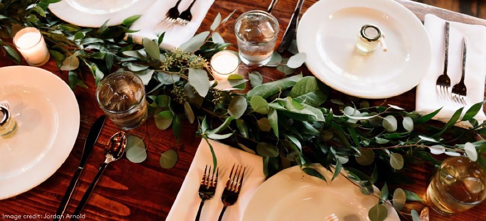 Selfridges wedding ceremony table design