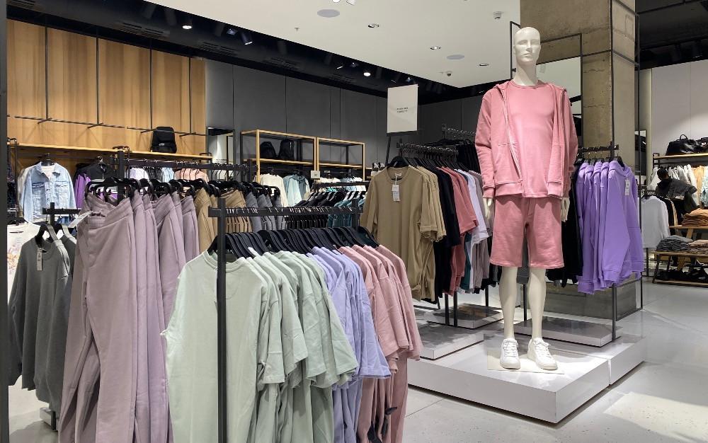 mens retail store pastel clothing