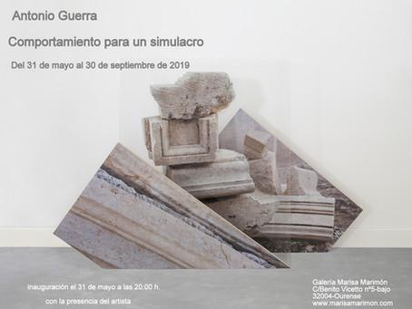 """Próxima exposición en la galería """"Comportamiento para un simulacro"""" de Antonio Guerra"""