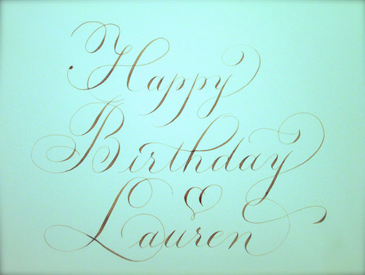 Flourished birthday greeting