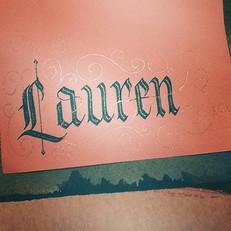 Embellished gothic calligraphy