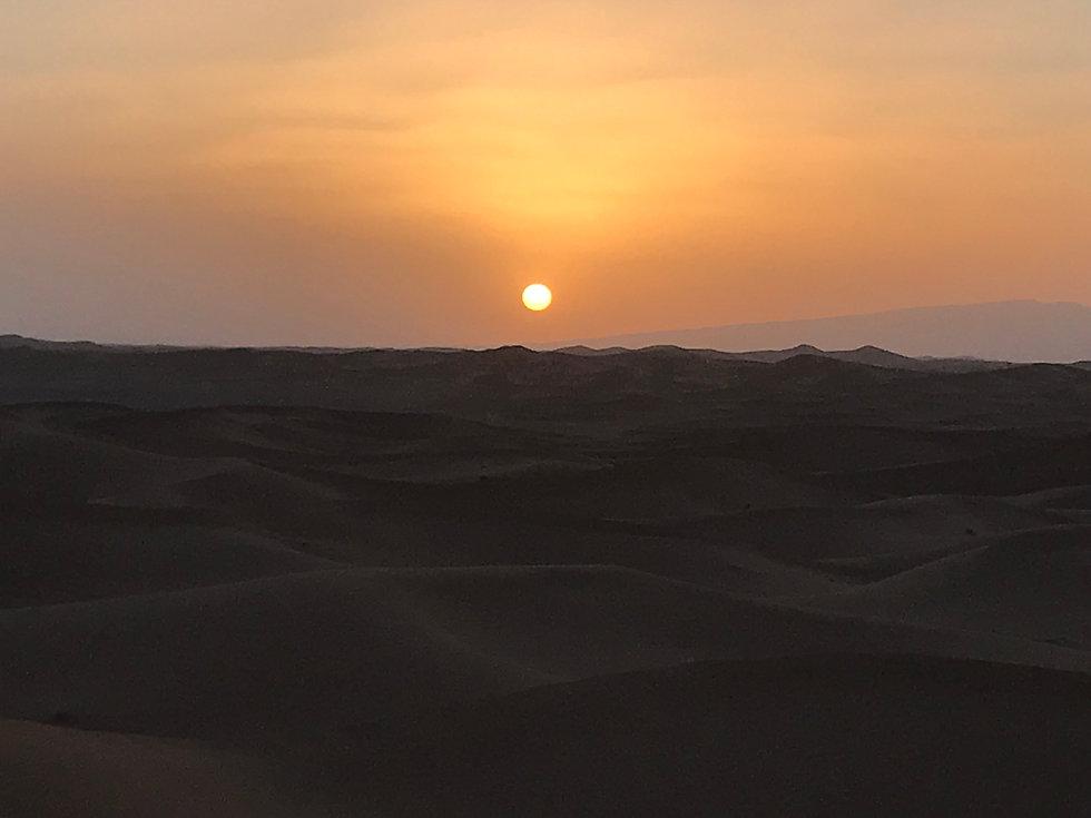 Féérie du coucher de soleil sur les dunes...