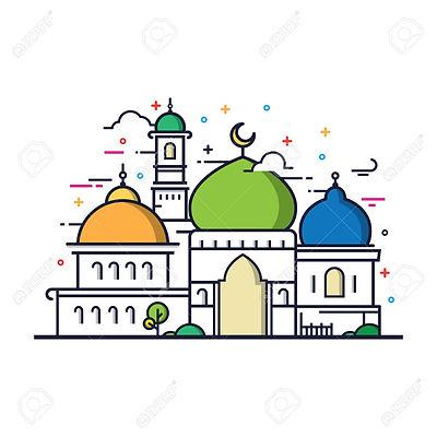 78758021-dessin-au-trait-moderne-mosquée