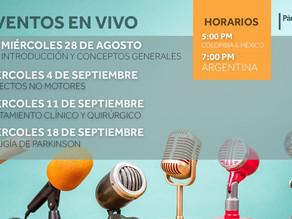 Serie de Webinars con el Hospital Italiano de Buenos Aires, Argentina