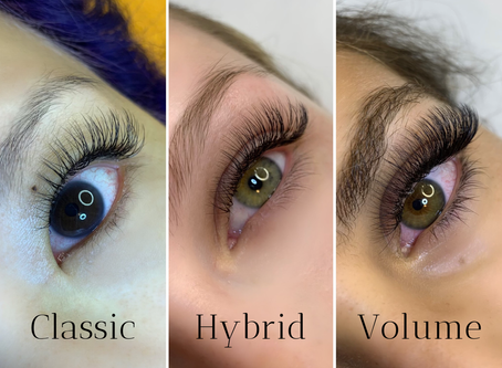 The Difference Between Classic, Hyrbid, and Volume Lash Extensions