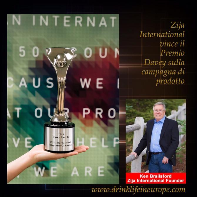 Zija International vince il Premio Davey.