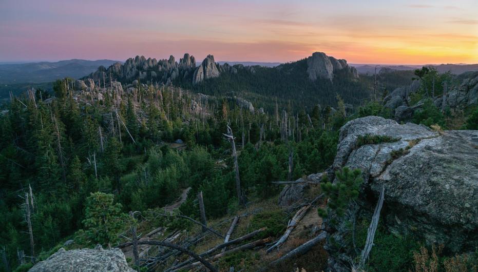 Sunset Over the Black Elk Wilderness