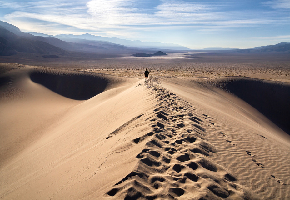A Morning Stroll in the Panamint Dunes