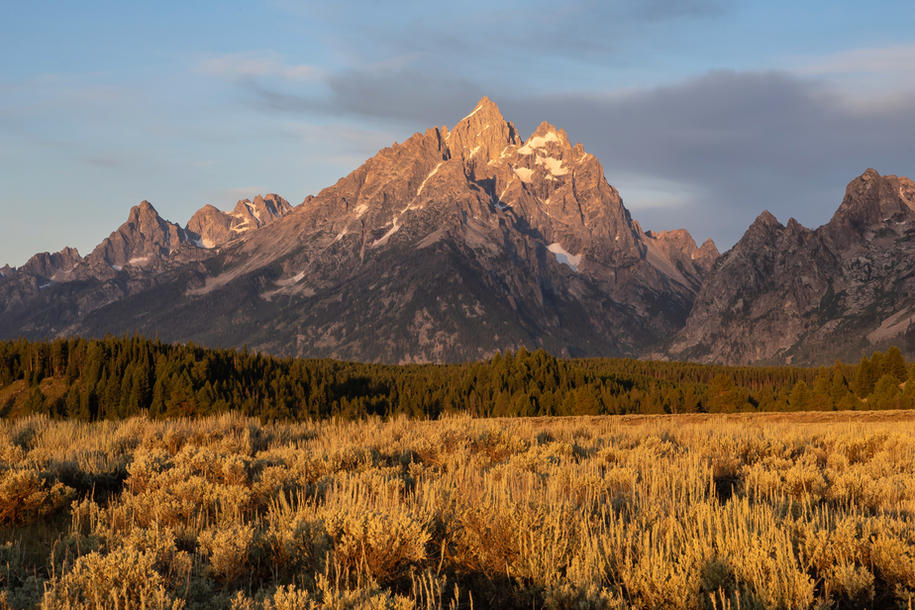 Sunrise in the Valley of Jackson Hole