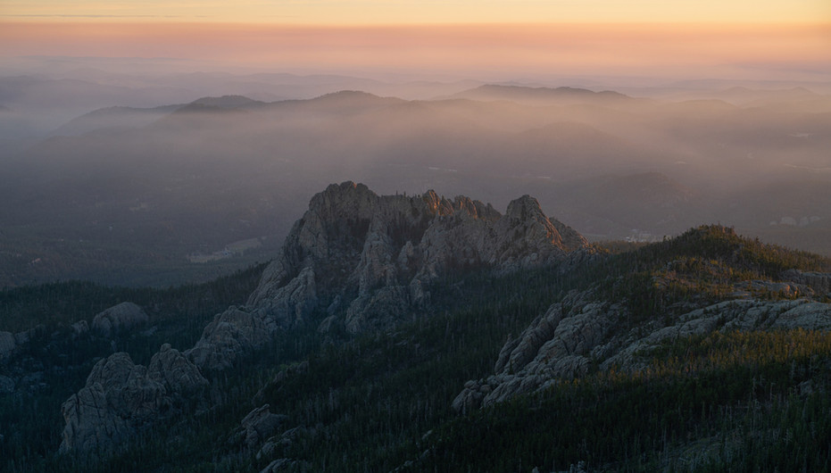 Foggy Morning From Black Elk Peak