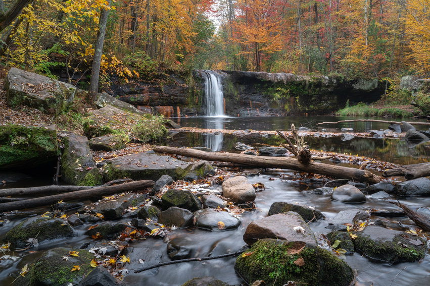 Wolf Creek Falls, Banning State Park