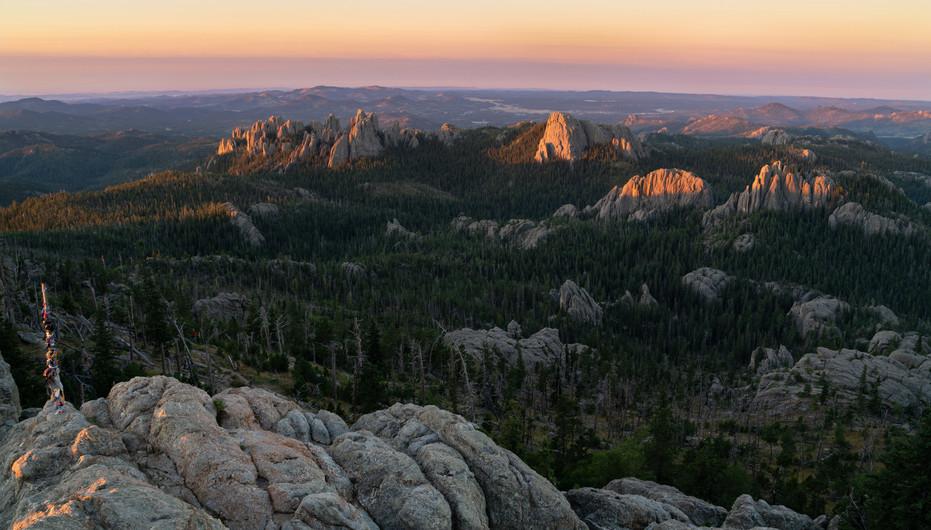First Light From Black Elk Peak
