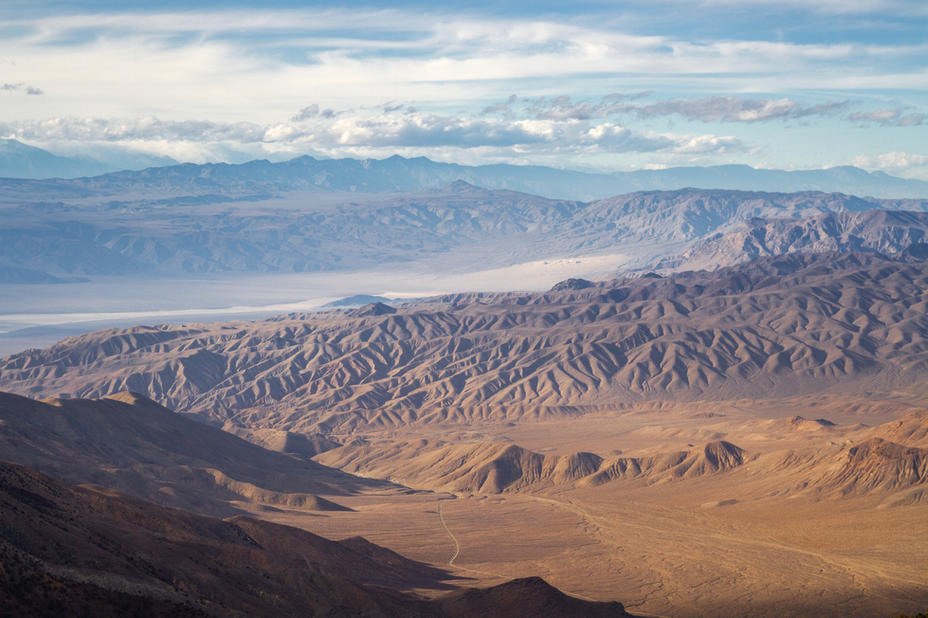 Panamint Dunes From a Ridge Below Peak