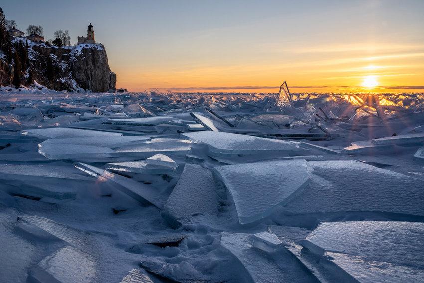 Ice Shards Beneath Split Rock Lighthouse