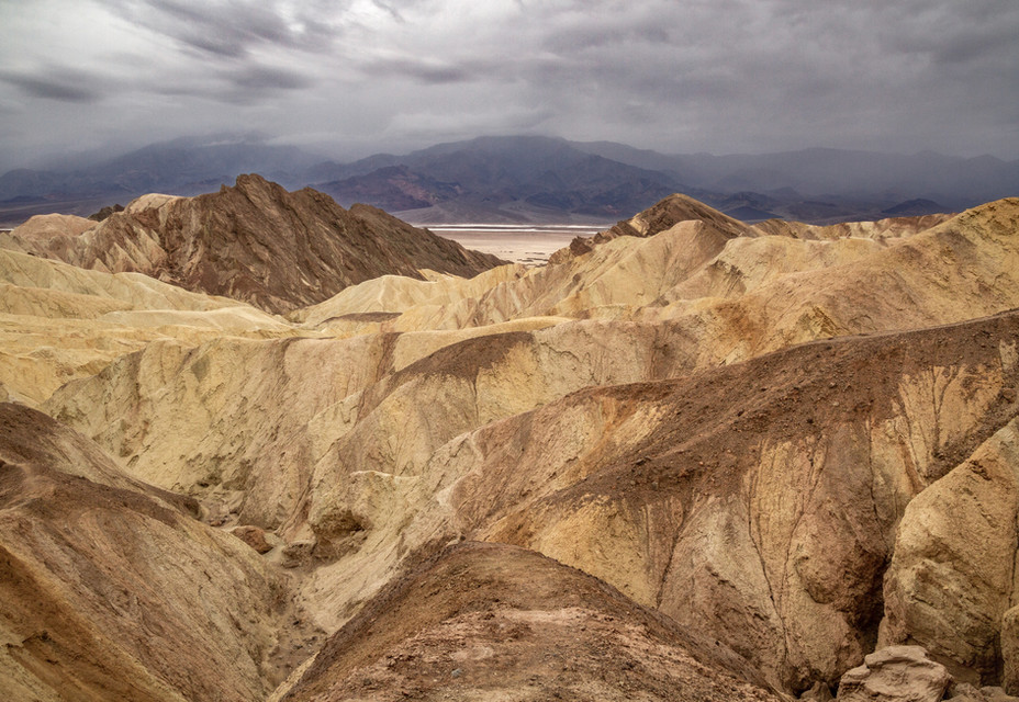 Stormy Day Over the Death Valley Badland