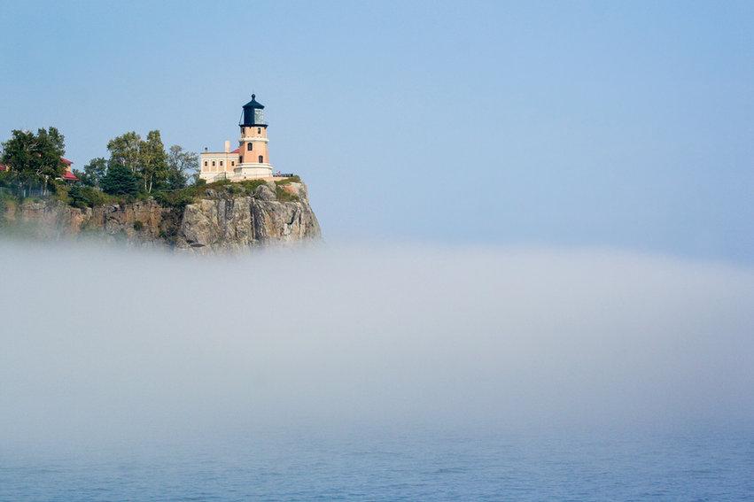 Fog Beneath Split Rock Lighthouse