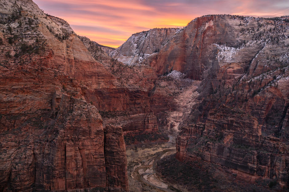 Looking Towards the Narrows of Zion Cany