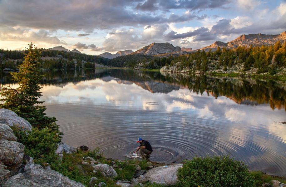 Gathering Water at Dad's Lake